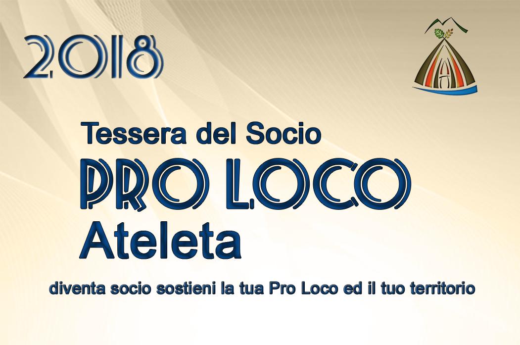 Tessera del Socio 2018 Pro Loco Ateleta