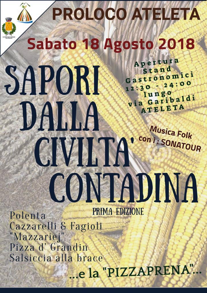 Festa dei Sapori della Civiltà Contadina - Pro Loco Ateleta