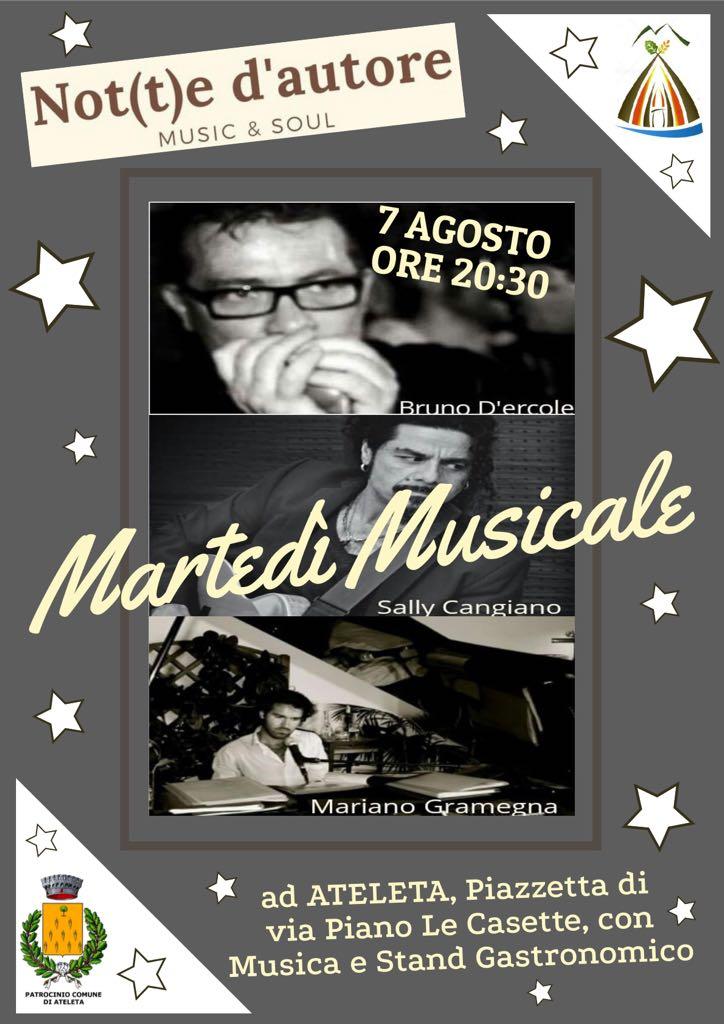 Martedi Musicale Not(t)e d'autore - Pro Loco Ateleta