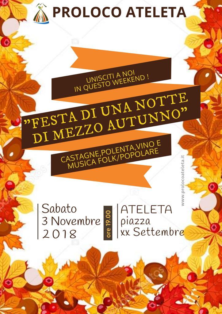 Festa di una Notte di Mezzo Autunno - Pro Loco Ateleta