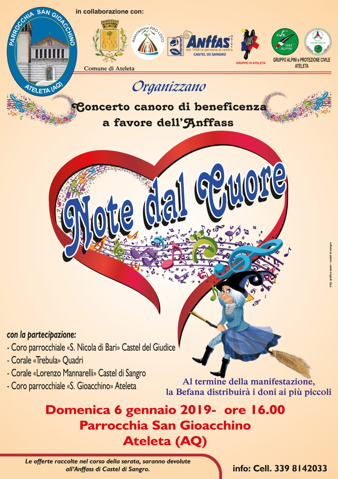Note dal Cuore - Concerto Canoro di Beneficenza a favore dell'Anffass